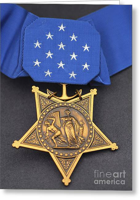 Courage Greeting Cards - Close-up Of The Medal Of Honor Award Greeting Card by Stocktrek Images