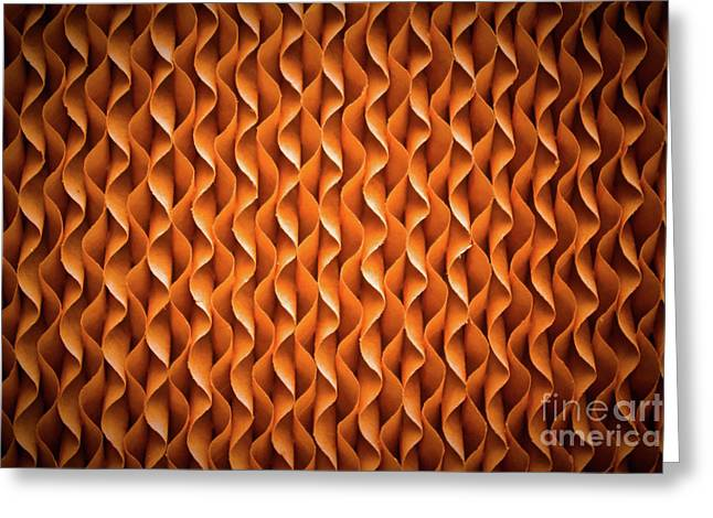 Greeting Cards - Close up texture of cooling pad  Greeting Card by Srinakorn Tangwai