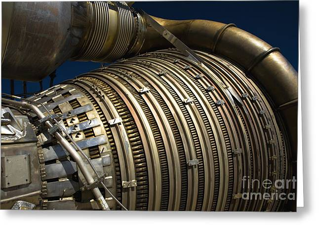Close-up View Of A Rocket Engine Greeting Card by Roth Ritter