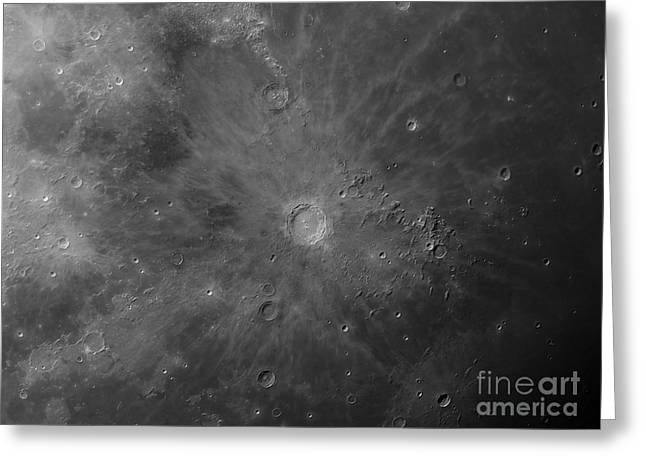 Oceanus Procellarum Greeting Cards - Close-up View Of Copernicus, An Impact Greeting Card by Rolf Geissinger