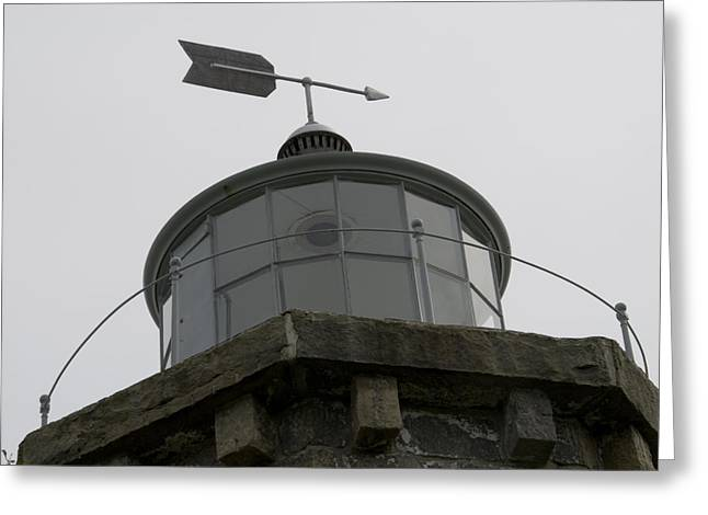 Wind Vane Greeting Cards - Close View Of The Light Tower Greeting Card by Todd Gipstein