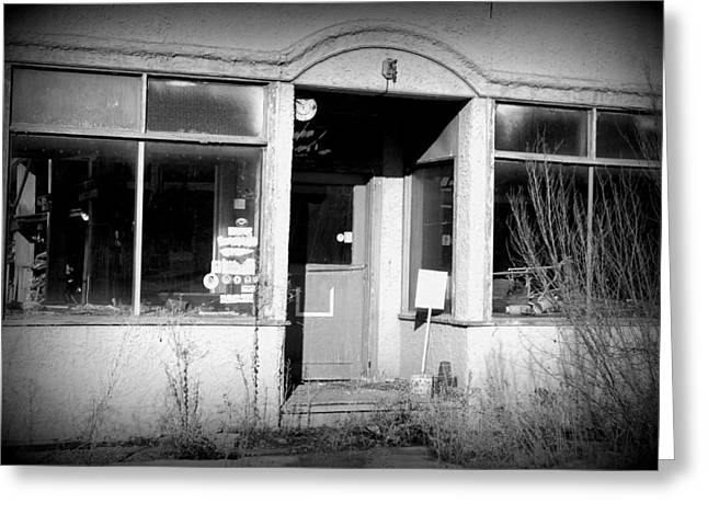 Store Fronts Greeting Cards - Closed Greeting Card by Dakota Light Photography By Dakota