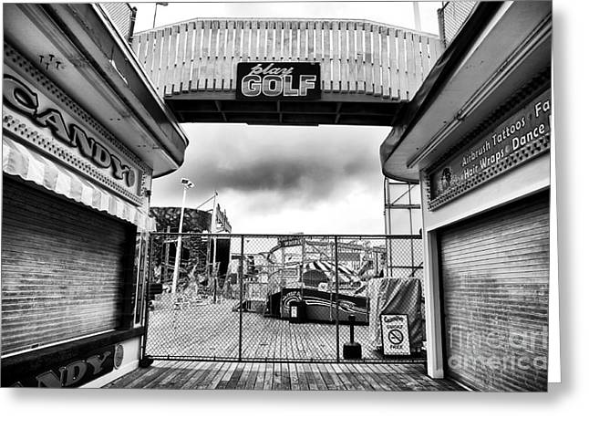 Seaside Heights Greeting Cards - Closed Greeting Card by John Rizzuto