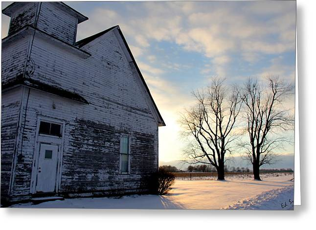 Indiana Landscapes Digital Art Greeting Cards - Closed On Sunday Greeting Card by Ed Smith
