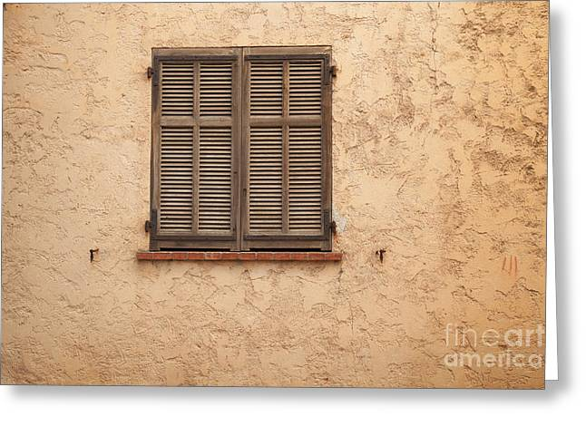 Antibes Greeting Cards - Closed Window Greeting Card by Charlotte Lake