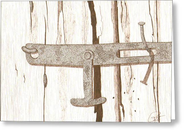 Barn Pen And Ink Greeting Cards - Closer Greeting Card by Pat Price