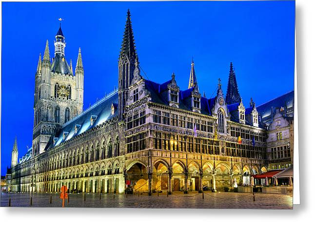 Ypres Greeting Cards - Cloth maker hall Ypres Belgium Greeting Card by Travel Images Worldwide