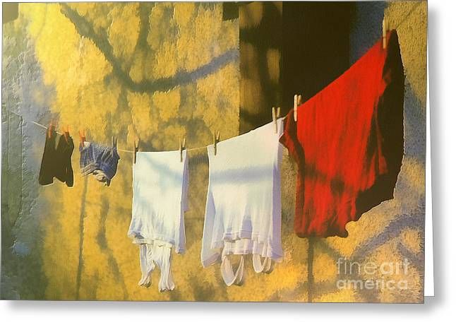 Recently Sold -  - Gold Lame Greeting Cards - Clothing Greeting Card by Odon Czintos