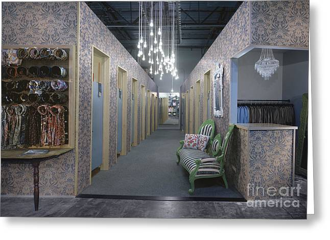 Fitting Room Greeting Cards - Clothing Store Greeting Card by Robert Pisano