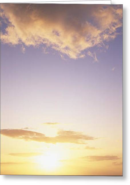 Sand Art Greeting Cards - Cloud and Horizon Greeting Card by Carl Shaneff - Printscapes