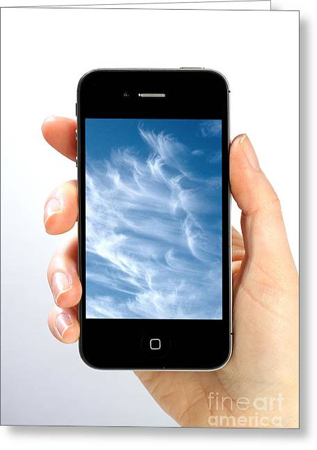 Photos Album Greeting Cards - Cloud Computing Greeting Card by Photo Researchers