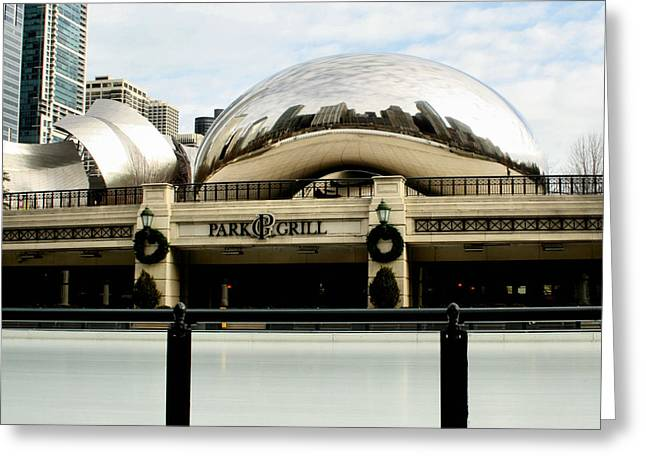 The Bean Greeting Cards - Cloud Gate - 2 Greeting Card by Ely Arsha