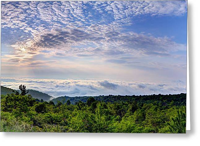 Leafs Greeting Cards - Cloud Ocean Greeting Card by Metro DC Photography