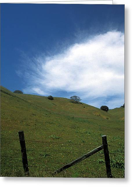 Landscape Framed Prints Greeting Cards - Cloud on the Hill Greeting Card by Kathy Yates