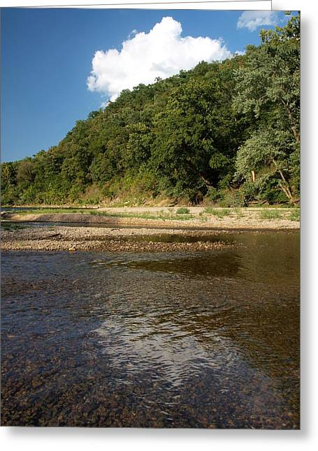 Ozark Mountains Greeting Cards - Cloud over the River Greeting Card by Joshua House