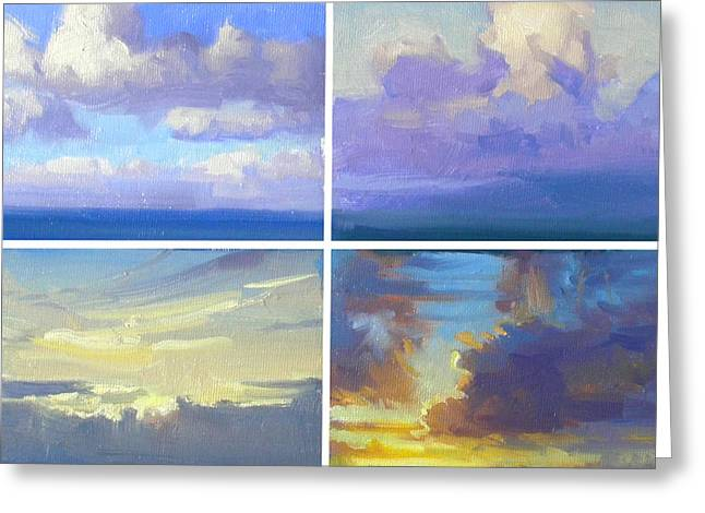 Cloud Studies Greeting Card by Richard Robinson