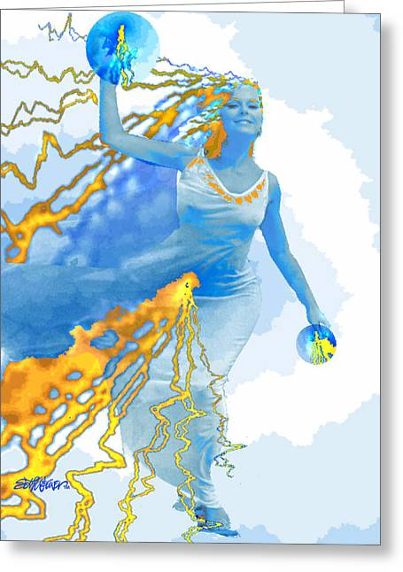 Fabled Greeting Cards - Cloudia Of The Clouds Greeting Card by Seth Weaver