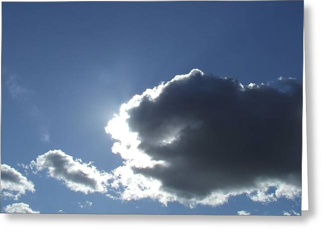 Sun Behind Clouds Greeting Cards - Clouds 6 Greeting Card by Tallulah P