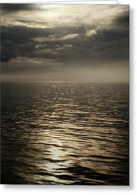 Inside Passage Greeting Cards - Clouds And Mist Hover Over The Waters Greeting Card by Anne Keiser