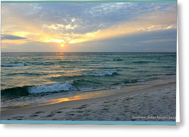 Panama City Beach Greeting Cards - Clouds and sun Greeting Card by Sharon Ventimiglia