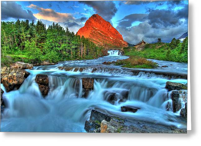 Clouds And Waterfalls Greeting Card by Scott Mahon