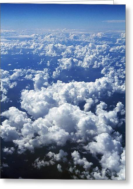Peace And Freedom Greeting Cards - Clouds From Aerial View Greeting Card by Natural Selection Craig Tuttle