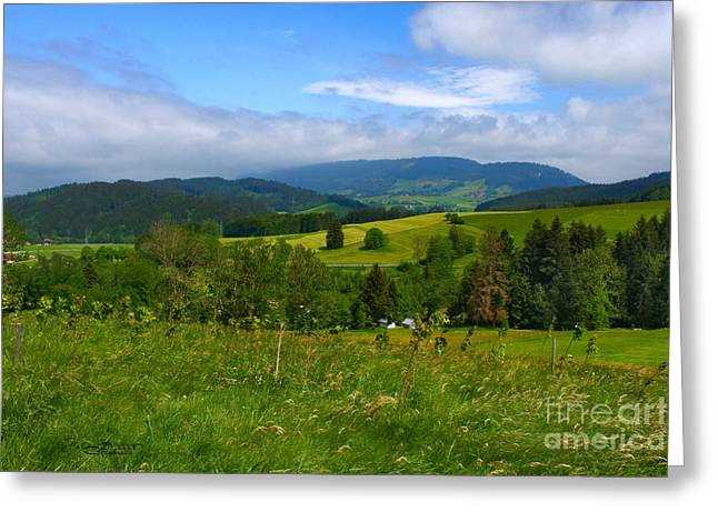 In The Distance Greeting Cards - Clouds in the Distance Greeting Card by Jutta Maria Pusl