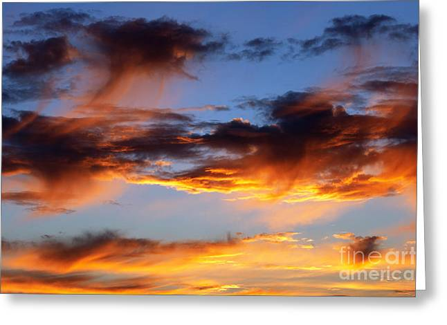 Recently Sold -  - Gloaming Greeting Cards - Clouds Greeting Card by Michal Boubin
