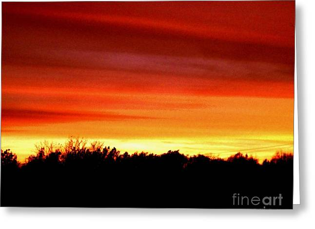 Sunset Posters Greeting Cards - Clouds of Beauty Greeting Card by Marsha Heiken