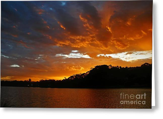 Band Photography Greeting Cards - Clouds of Fire          Greeting Card by Kaye Menner
