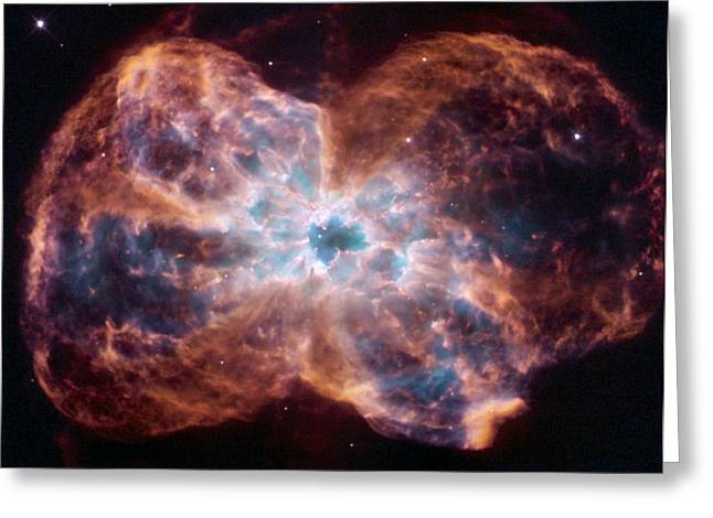Hubble Space Telescope Views Greeting Cards - Clouds Of Gas And Debris Surround Greeting Card by ESA and nASA