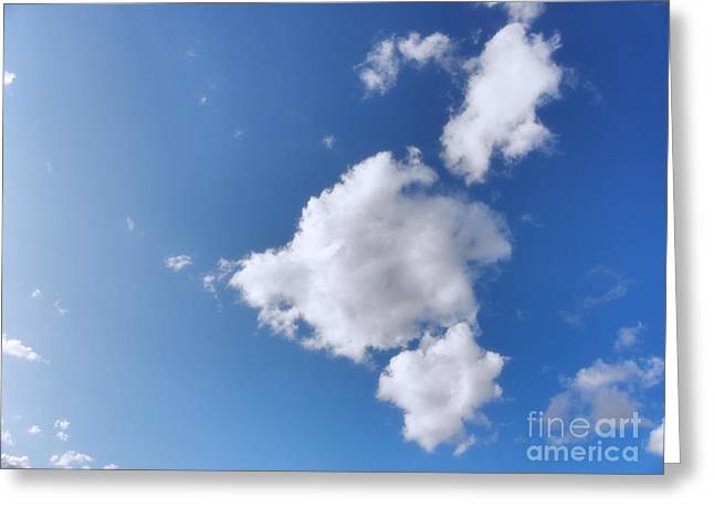 Winter Photos Greeting Cards - Clouds on blue sky Greeting Card by Pixel Chimp