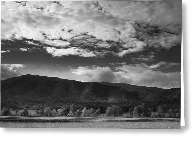 Great Smoky Mountains Greeting Cards - Clouds over Cades Cove Greeting Card by Andrew Soundarajan