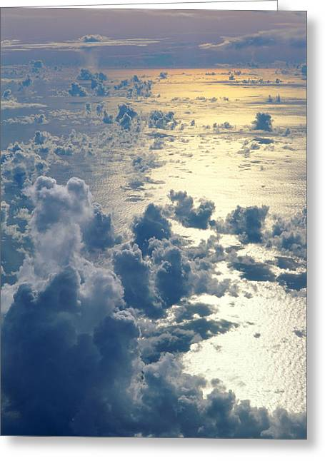 Ocean Art Photos Greeting Cards - Clouds Over Ocean Greeting Card by Ed Robinson - Printscapes