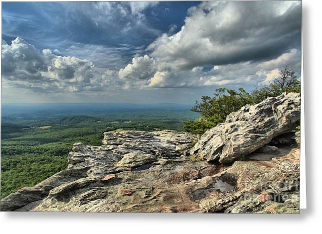 Ledge Photographs Greeting Cards - Clouds Over The Cliff Greeting Card by Adam Jewell