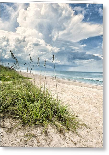 Cheryl Davis Greeting Cards - Clouds Over The Ocean Greeting Card by Cheryl Davis