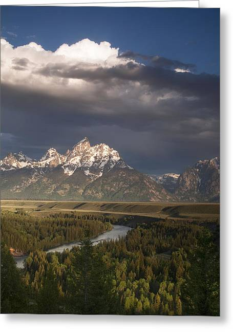 Summer Photos Greeting Cards - Clouds over the Tetons Greeting Card by Andrew Soundarajan