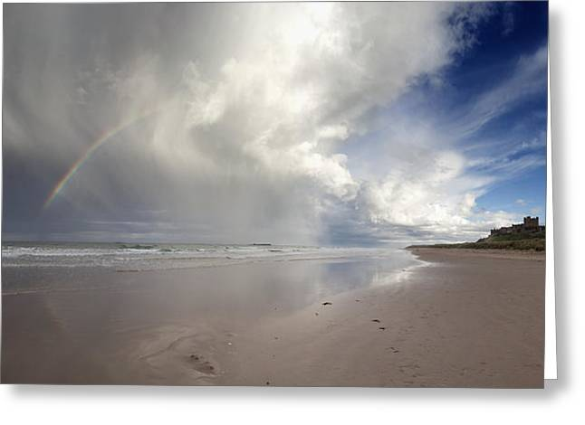 Clouds Reflected In The Shallow Water Greeting Card by John Short