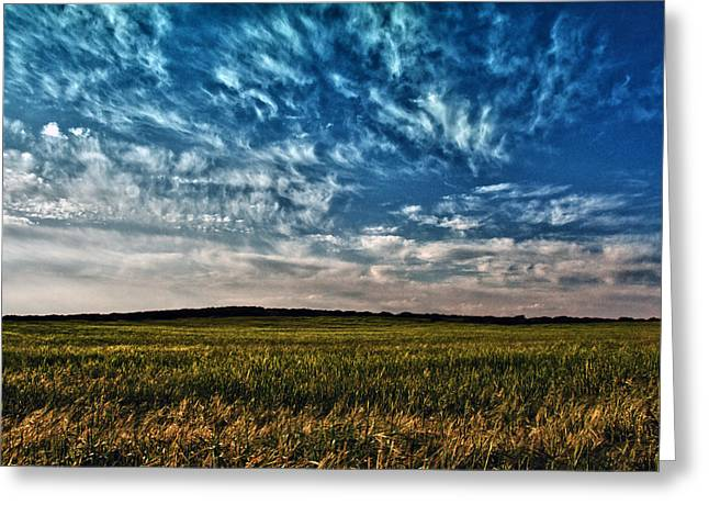 Pasture Scenes Greeting Cards - Cloudscape Greeting Card by Stylianos Kleanthous