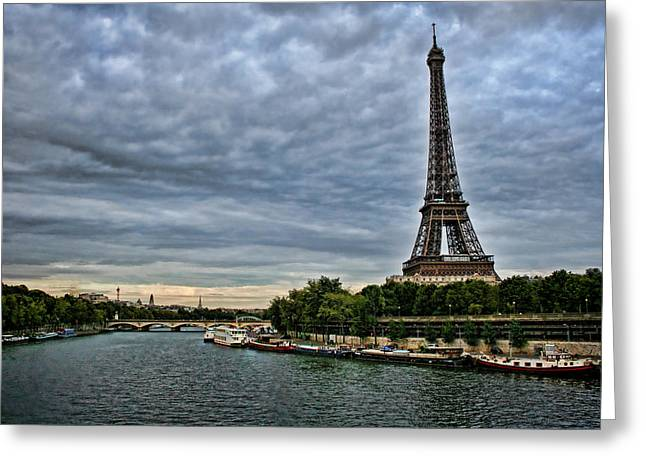 Champs Greeting Cards - Cloudy Evening in Paris Greeting Card by Heather Applegate