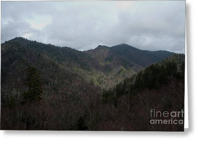Cloudy Mountain Greeting Card by Michael Waters