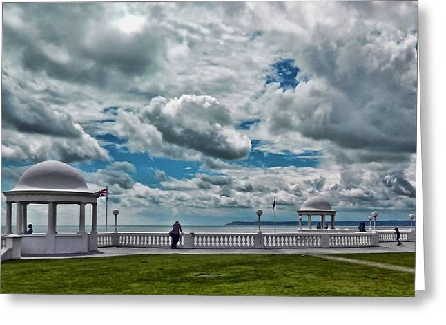Sea View Greeting Cards - Cloudy View Greeting Card by Sharon Lisa Clarke