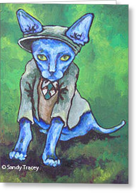Outfit Paintings Greeting Cards - Clover Greeting Card by Sandy Tracey