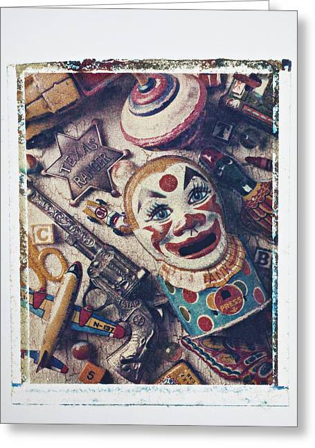 Transfer Greeting Cards - Clown Bank Greeting Card by Garry Gay