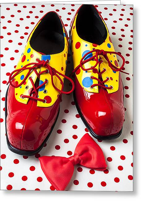 Funny Shoe Greeting Cards - Clown shoes  Greeting Card by Garry Gay