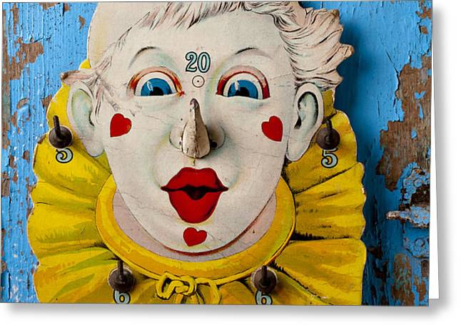 Clown toy game Greeting Card by Garry Gay