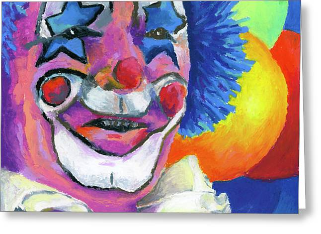 Clown with Balloons Greeting Card by Stephen Anderson