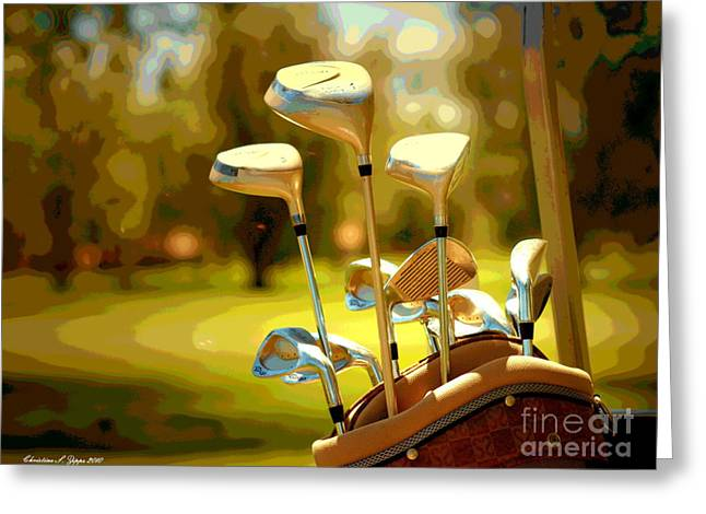 Clubs Greeting Cards - Clubs II Greeting Card by Christine Zipps
