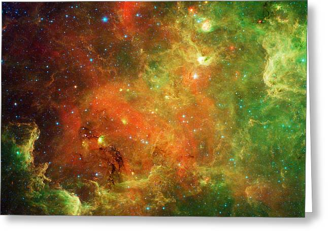 Colorful Cloud Formations Greeting Cards - Clusters Of Young Stars In The North Greeting Card by Stocktrek Images