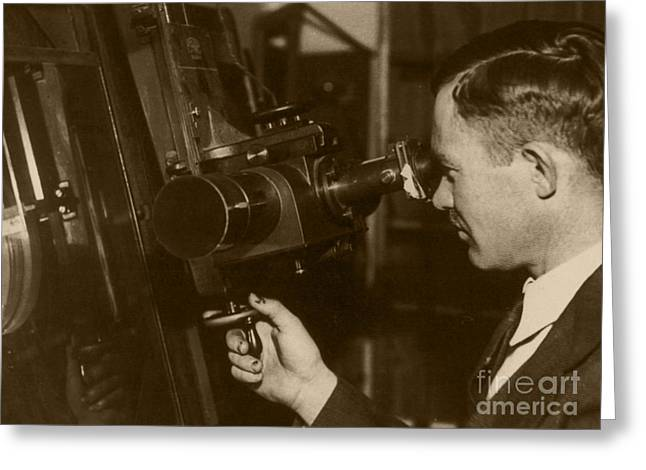 Surname T Greeting Cards - Clyde Tombaugh Greeting Card by Science Source